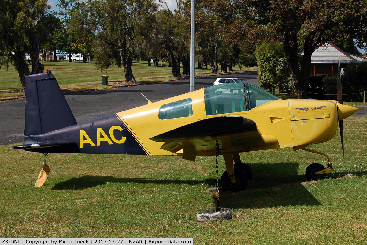 ZK-DNI, Grumman American AA-1B Trainer C/N AA5B-0136, At Ardmore (fake registration)