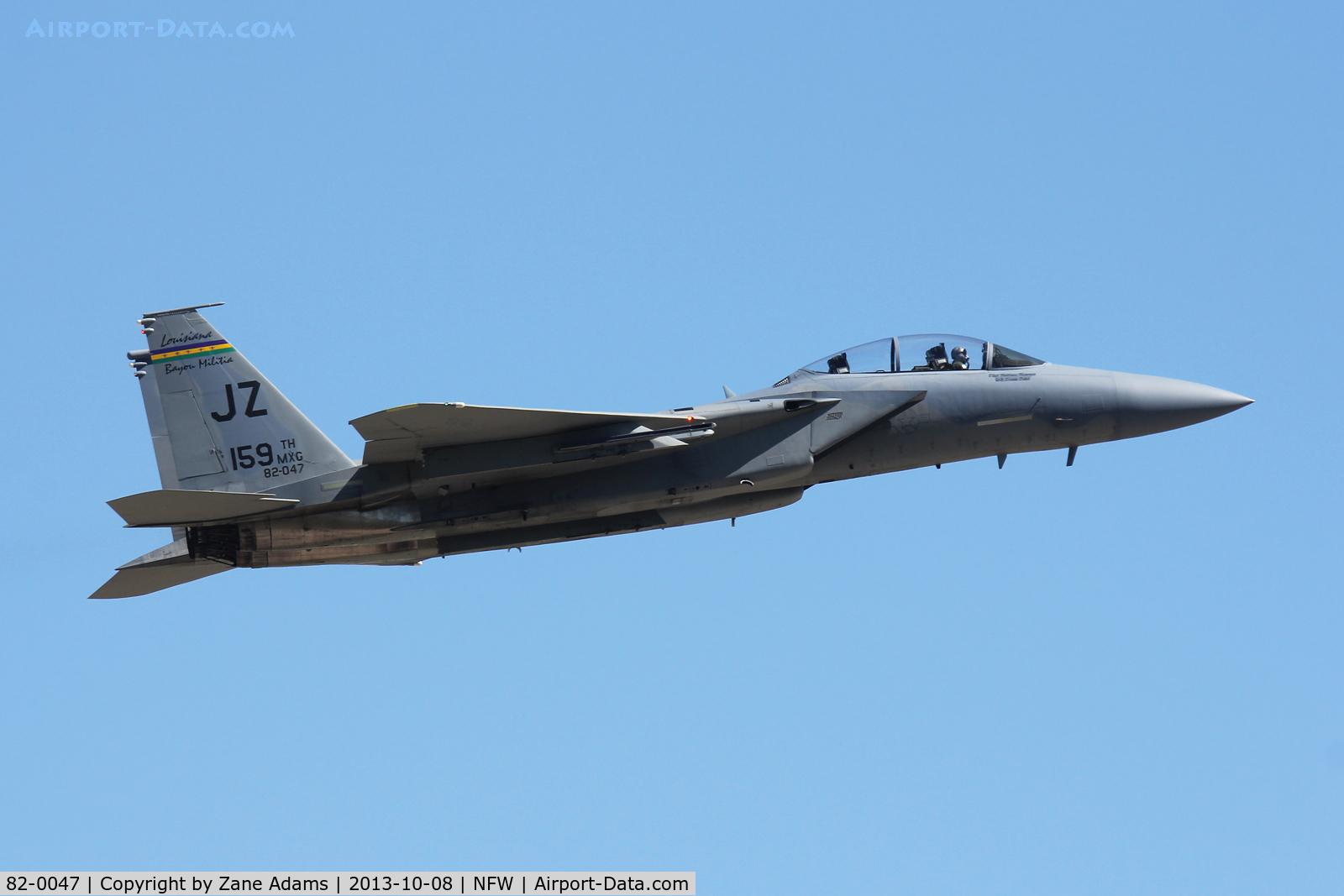82-0047, 1982 McDonnell Douglas F-15D Eagle C/N 0845/D043, Departing NAS Fort Worth