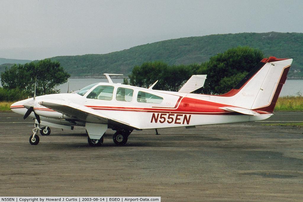 N55EN, 1973 Beech E-55 Baron C/N TE-942, A visitor here.