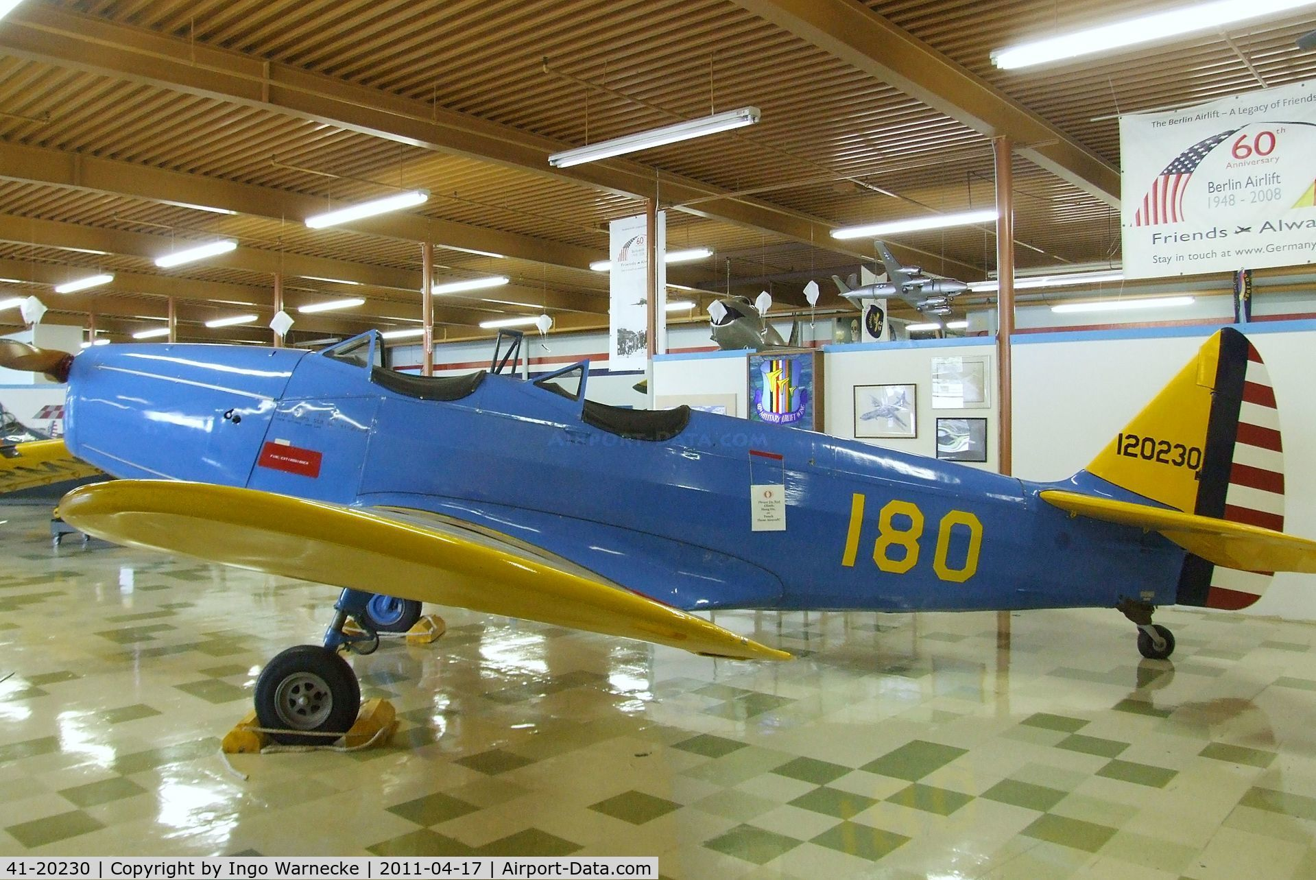 41-20230, Fairchild PT-19A-FA C/N not found 41-20230, Fairchild PT-19A at the Travis Air Museum, Travis AFB Fairfield CA