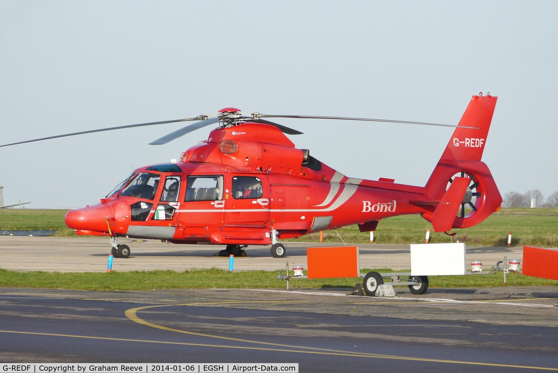 G-REDF, 2009 Eurocopter AS-365N-3 Dauphin 2 C/N 6884, Parked at Norwich.