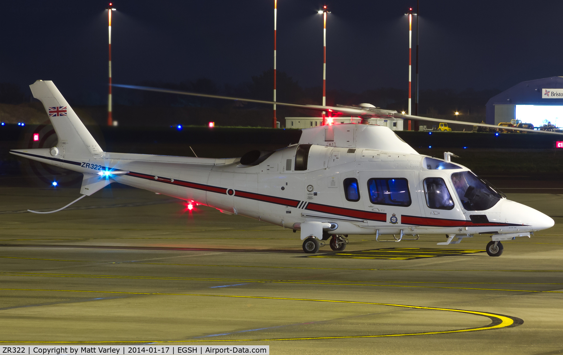 ZR322, 2006 Agusta A-109E Power C/N 11664, Sat on stand at SaxonAir moments before her departure....