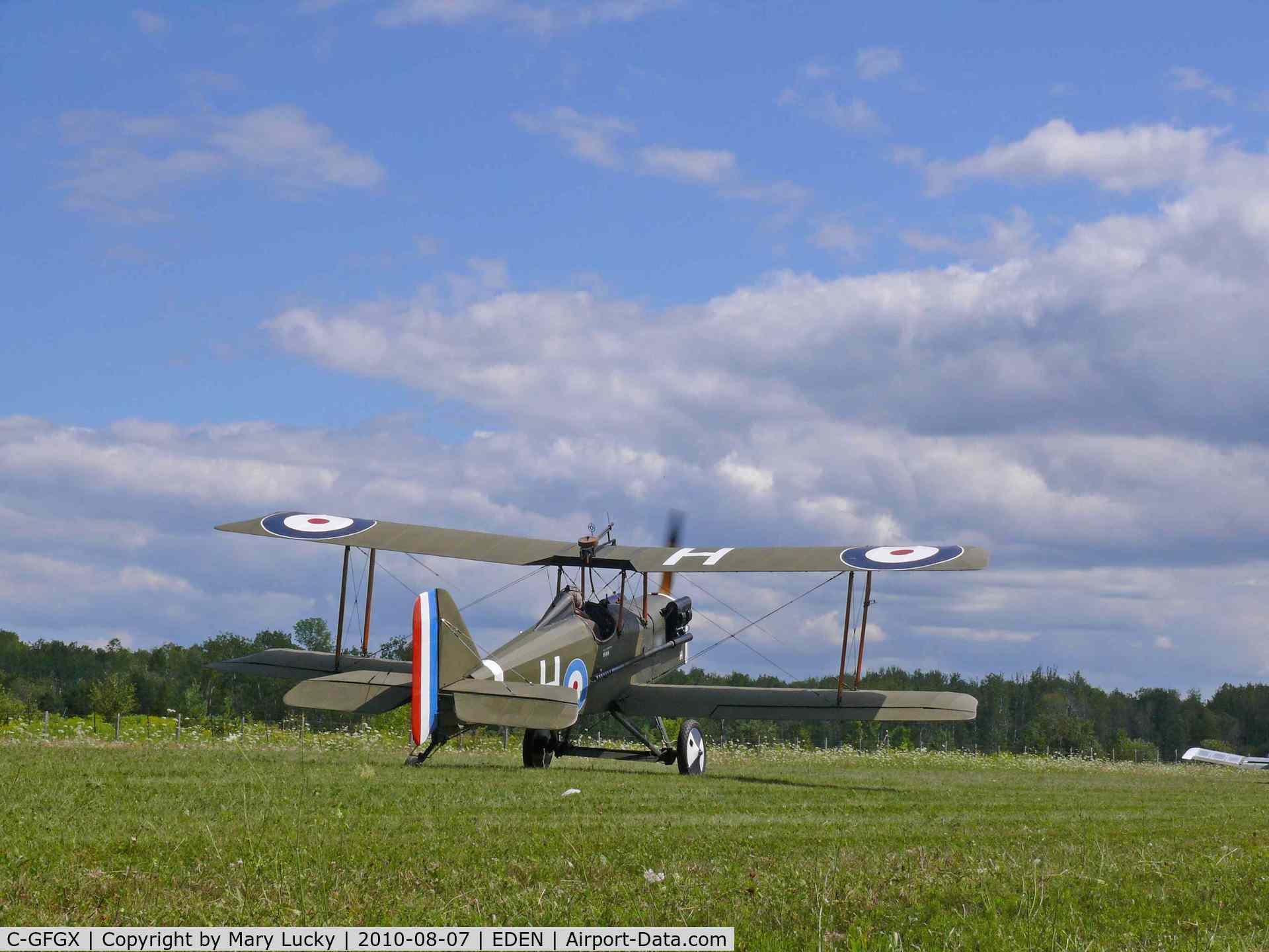 C-GFGX, 1984 Royal Aircraft Factory SE-5A Replica C/N 078258, At Edenvale air show August 7th 2010.