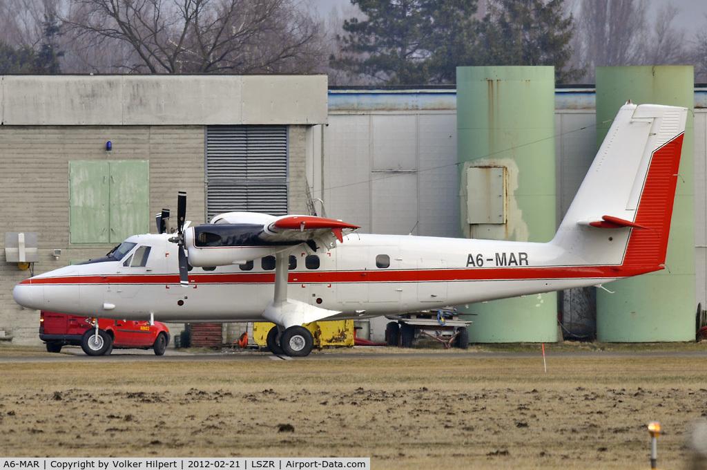A6-MAR, 1988 De Havilland Canada DHC-6-300 Twin Otter C/N 841, at ach
