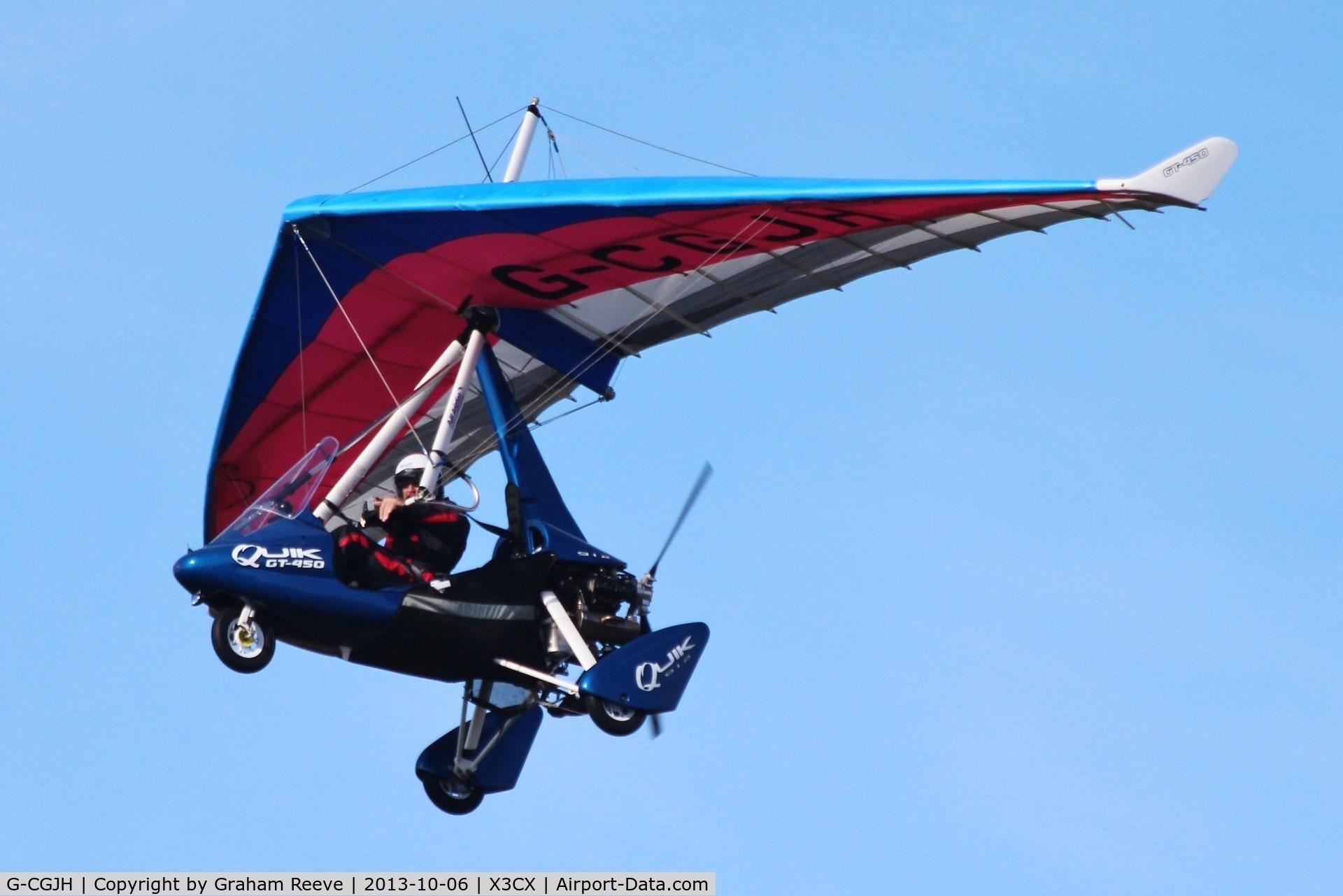G-CGJH, P&M Aviation Quik GT450 C/N 8511, Over head at Northrepps.