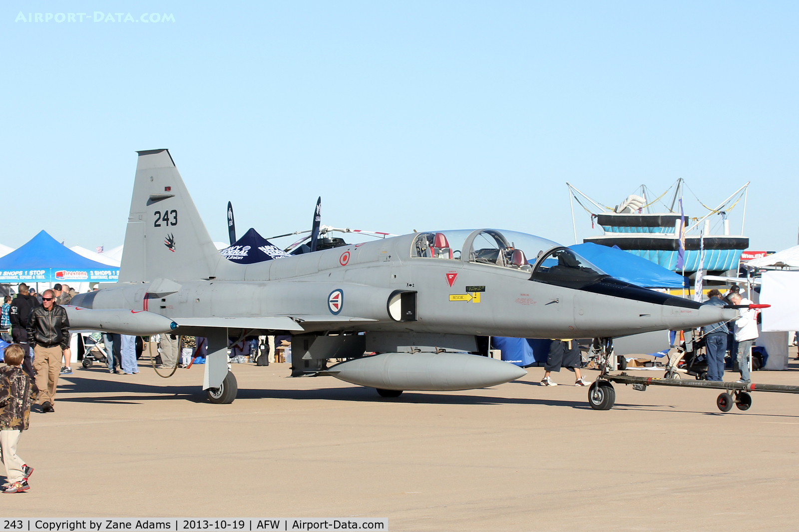 243, 1966 Northrop F-5B Freedom Fighter C/N N.9007, On display at the 2013 Fort Worth Alliance Airshow