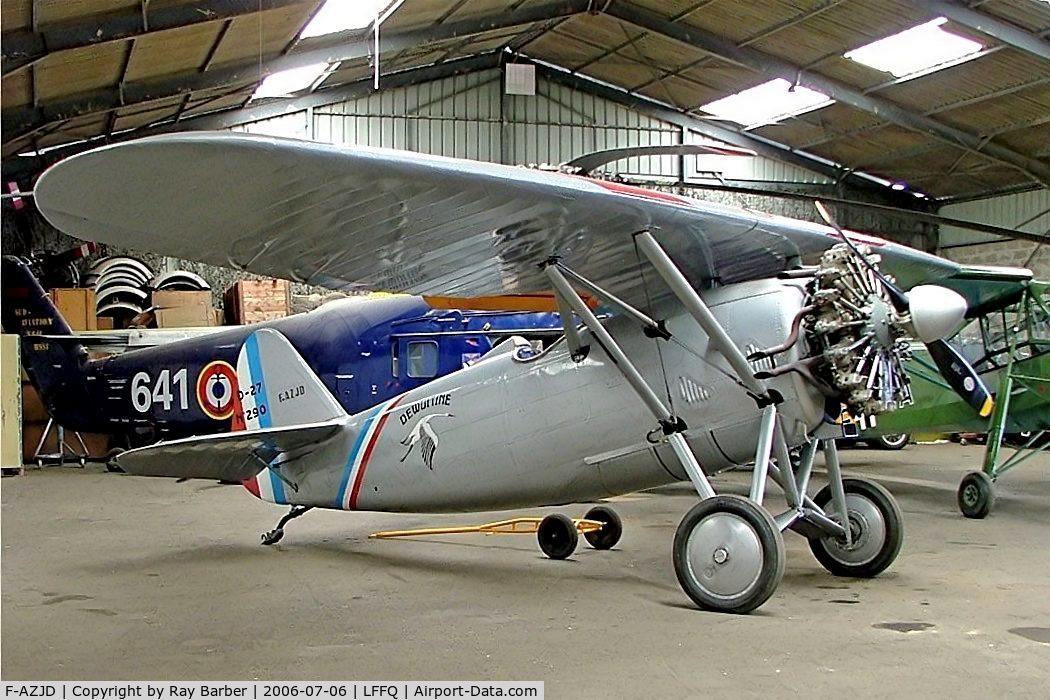 F-AZJD, Dewoitine D.27-SA C/N SA-290, Dewoitine D.26-1 [322] La Ferte Alais~F 06/07/2006