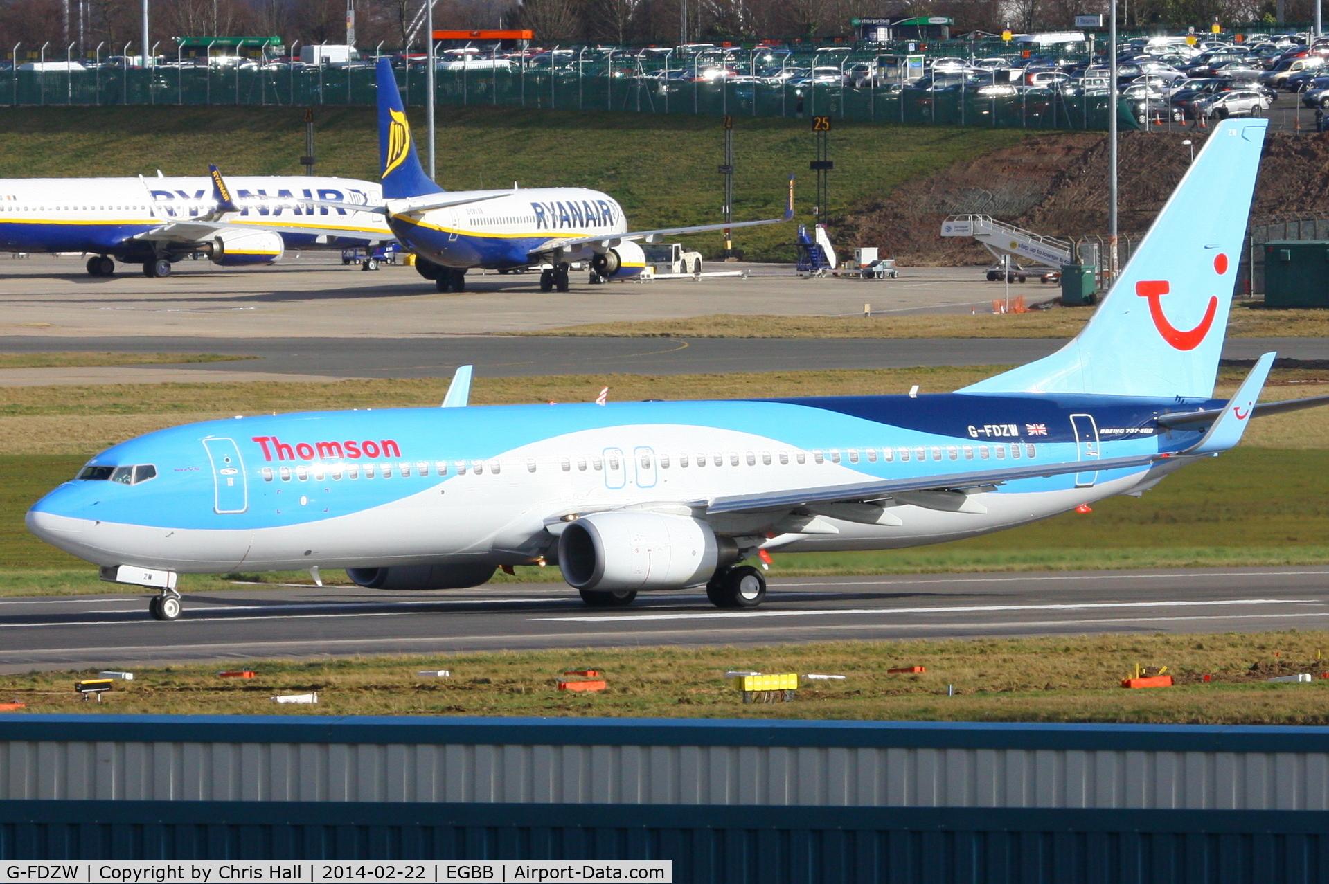 G-FDZW, 2011 Boeing 737-8K5 C/N 37254, Thomson