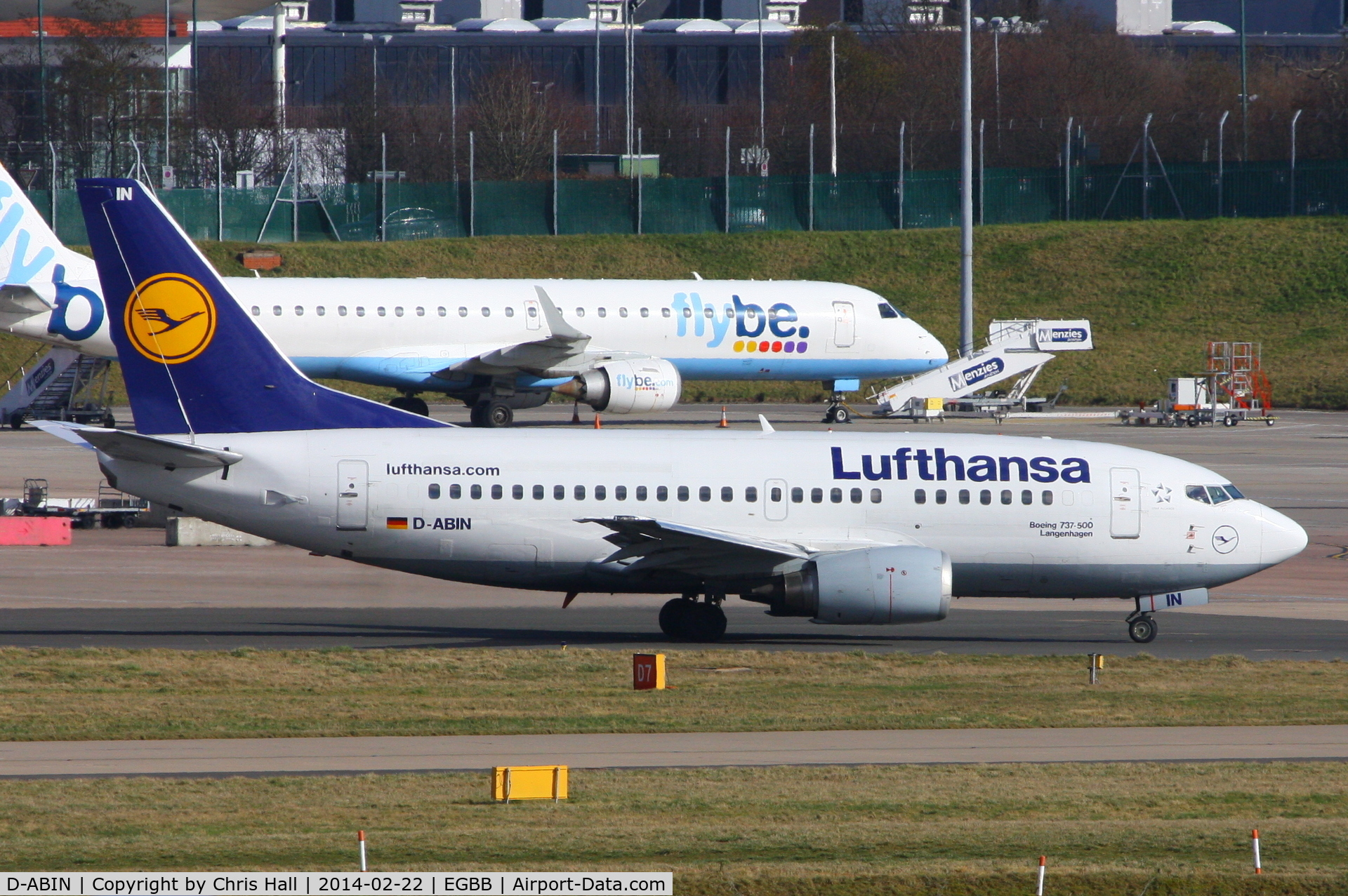 D-ABIN, 1991 Boeing 737-530 C/N 24938, Lufthansa