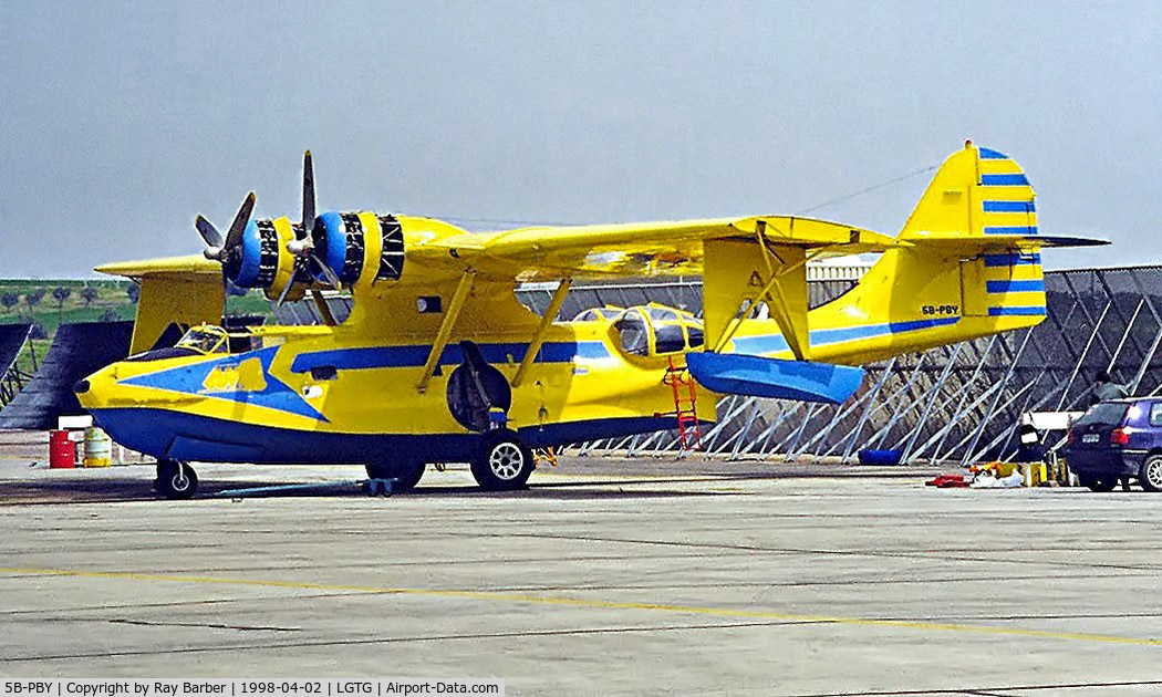 5B-PBY, Consolidated (Canadian Vickers) PBV-1A Canso A C/N CV-333, Canadair-Vickers PBV-1A Canso [CV-333] (Athenian Airlift Services Ltd) Tanagra~SX 02/04/1998