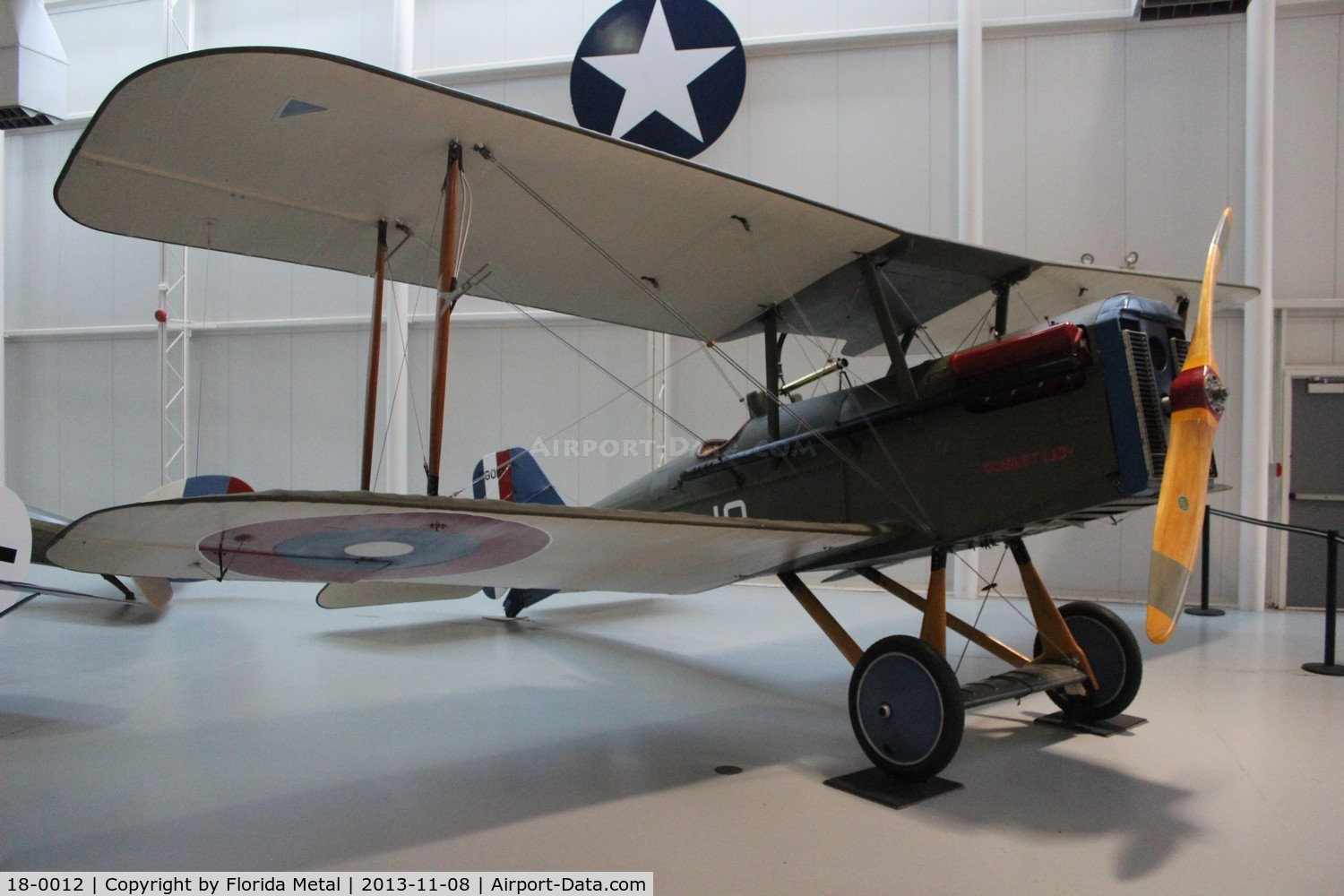 18-0012, 1918 Curtiss SE.5A C/N F8010, Curtiss S.E. 5A at Ft. Rucker Army Aviation Museum