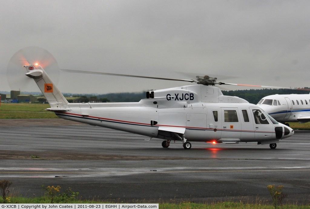 G-XJCB, 2006 Sikorsky S-76C C/N 760616, Departing Sigs