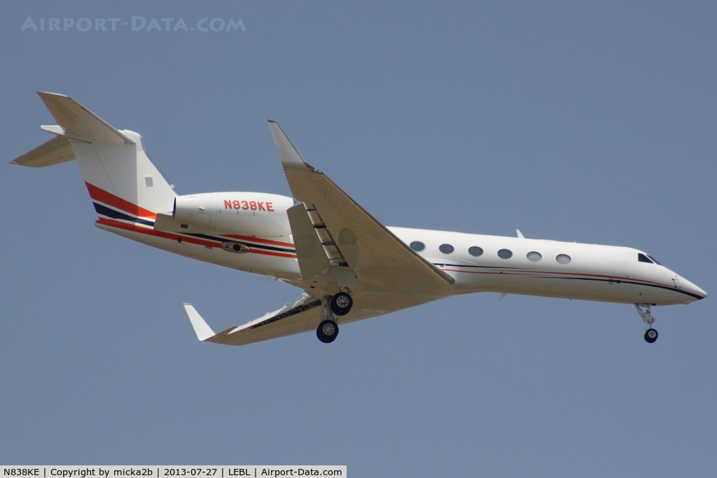 N838KE, 2013 Gulfstream Aerospace V-SP G550 C/N 5398, Landing