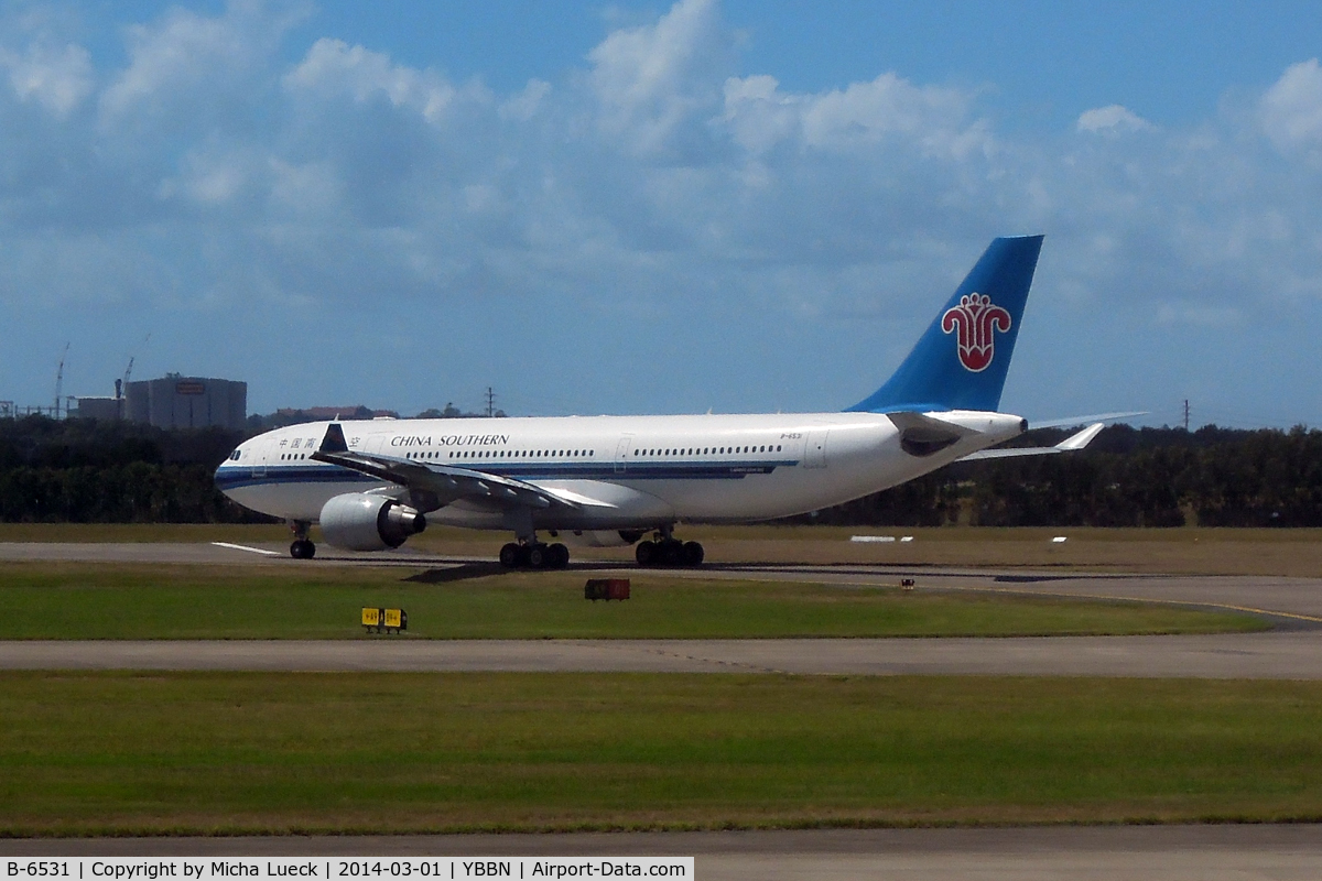 B-6531, 2011 Airbus A330-223 C/N 1233, At Brisbane