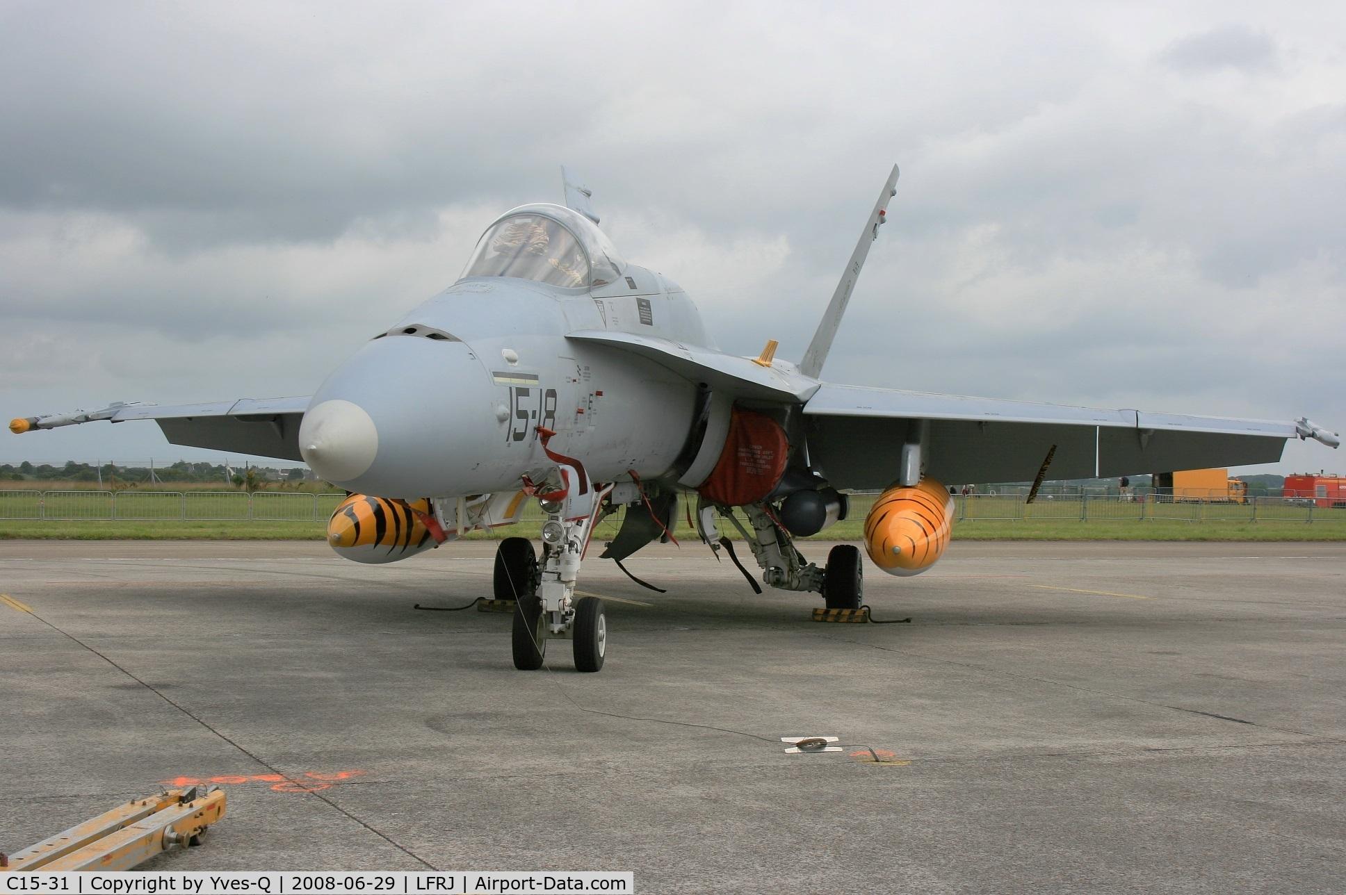 C15-31, McDonnell Douglas EF-18A Hornet C/N 0533/A442, Spanish Air Force McDonnell Douglas EF-18A Hornet, Landivisiau Naval Air Base (LFRJ) Open day Tiger Meet 2008