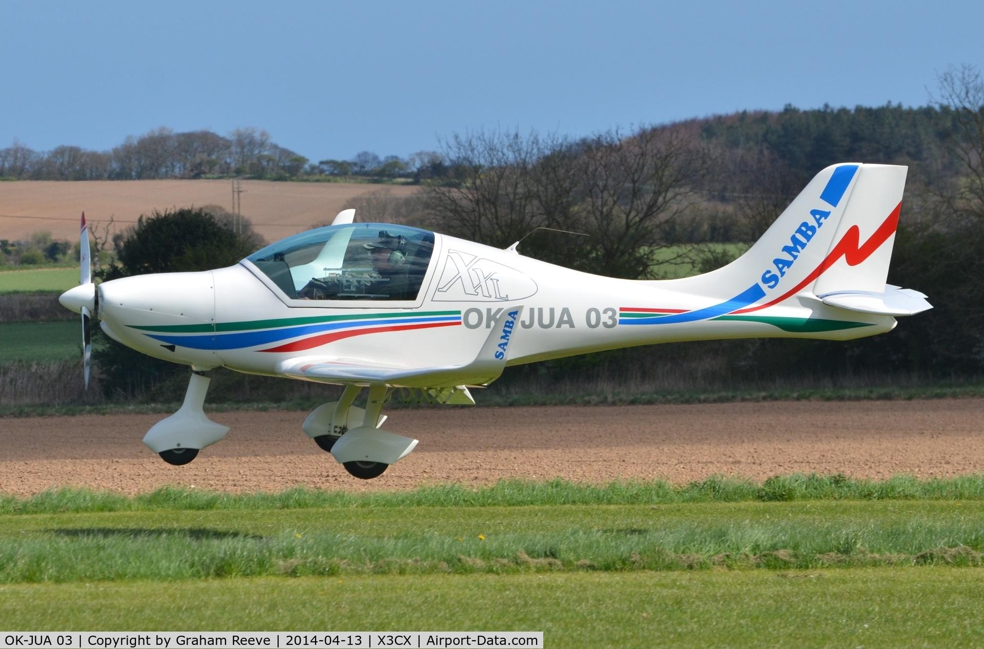OK-JUA 03, Urban Air UFM-10 Samba C/N Not found OK-JUA 03, About to touch down at Northrepps.