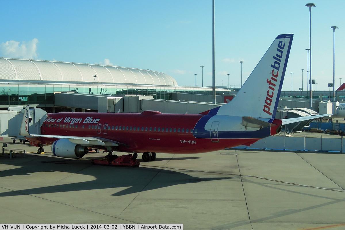 VH-VUN, 2007 Boeing 737-8BK C/N 29676, At Brisbane