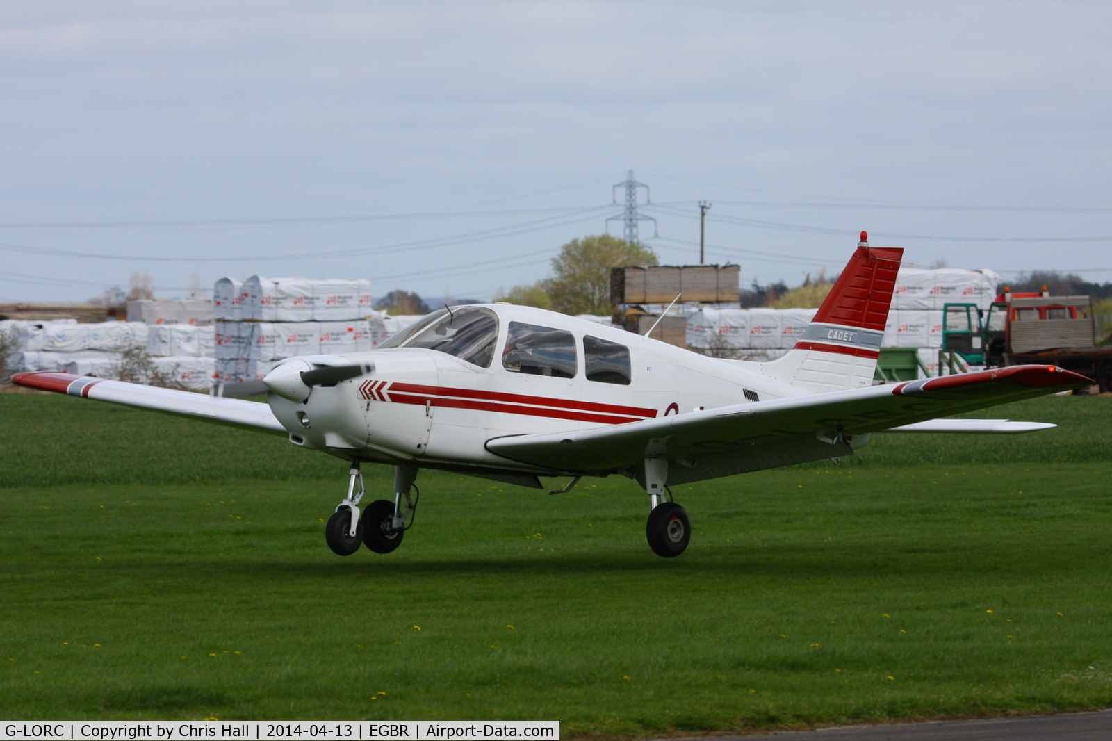G-LORC, 1992 Piper PA-28-161 Cadet C/N 2841339, at Breighton's 'Early Bird' Fly-in 13/04/14