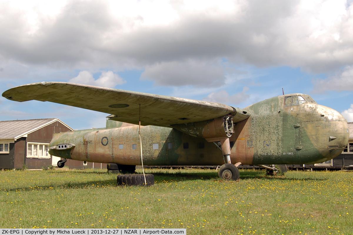 ZK-EPG, Bristol 170 Freighter Mk.31M C/N 13135, New hidden spot at Ardmore