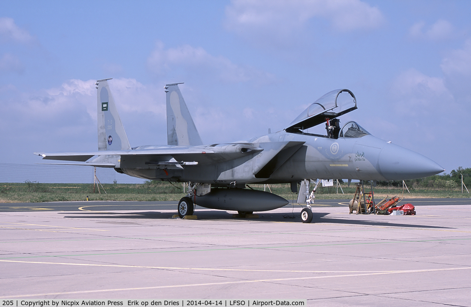 205, McDonnell Douglas F-15C Eagle C/N 0726/012, 205 is a RSAAF F-15C and flew as 80-0073 in USAF Sevice
