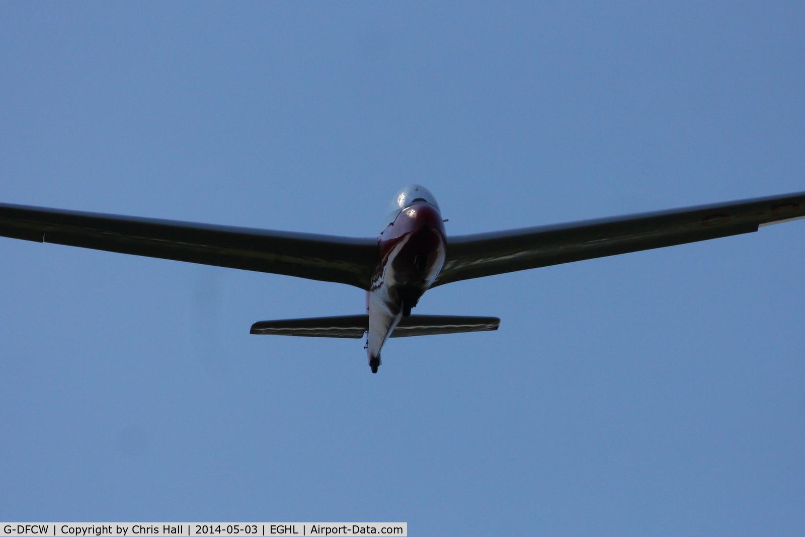 G-DFCW, 1985 Schleicher ASK-13 C/N 16342AB, at Lasham airfield
