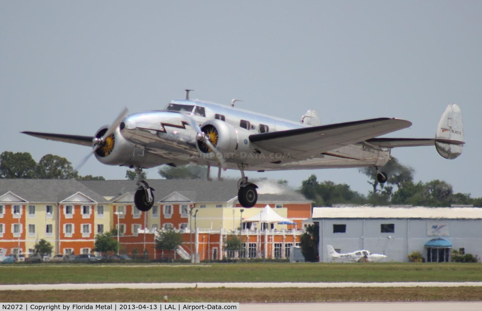 N2072, 1936 Lockheed 12A C/N 1208, Lockheed 12A