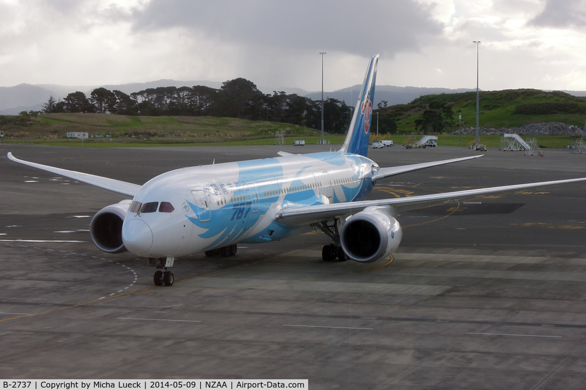 B-2737, 2013 Boeing 787-8 Dreamliner C/N 34930, At Auckland