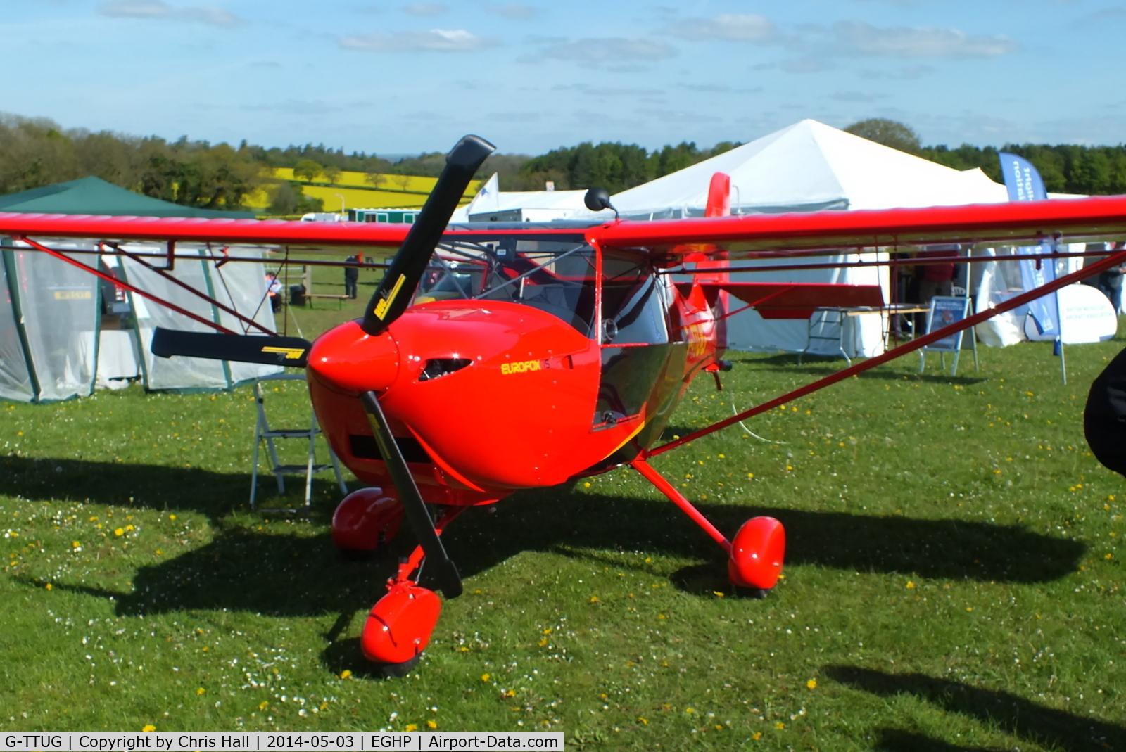 G-TTUG, 2013 Aeropro Eurofox 912(S) C/N LAA 376-15213, at the 2014 Microlight Trade Fair, Popham