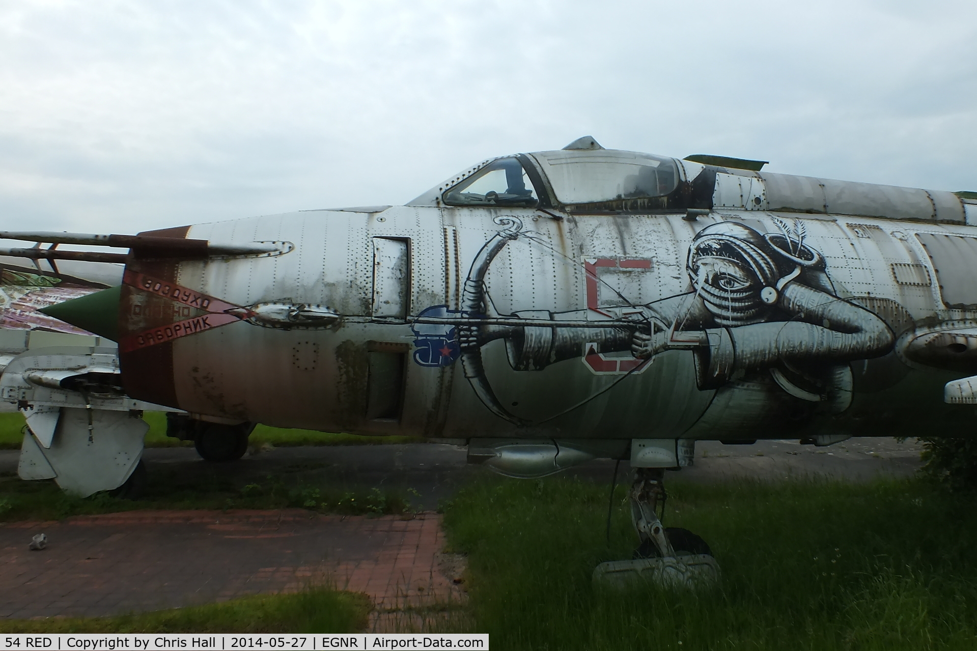 54 RED, Sukhoi Su-17M C/N 69004, close up of the nose art