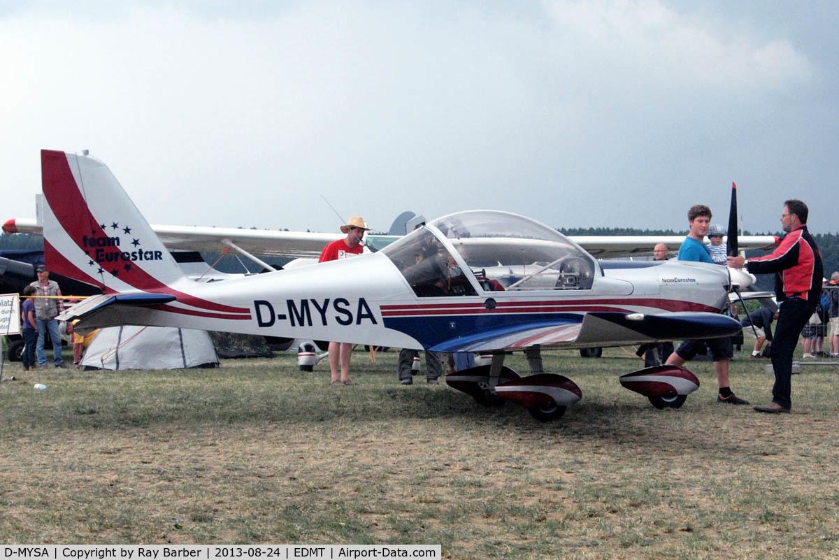 D-MYSA, 2008 Evektor EV-97 Eurostar C/N 2008-3225, Evektor EV-97 Team Eurostar [2008-3225] Tannheim~D 24/08/2013