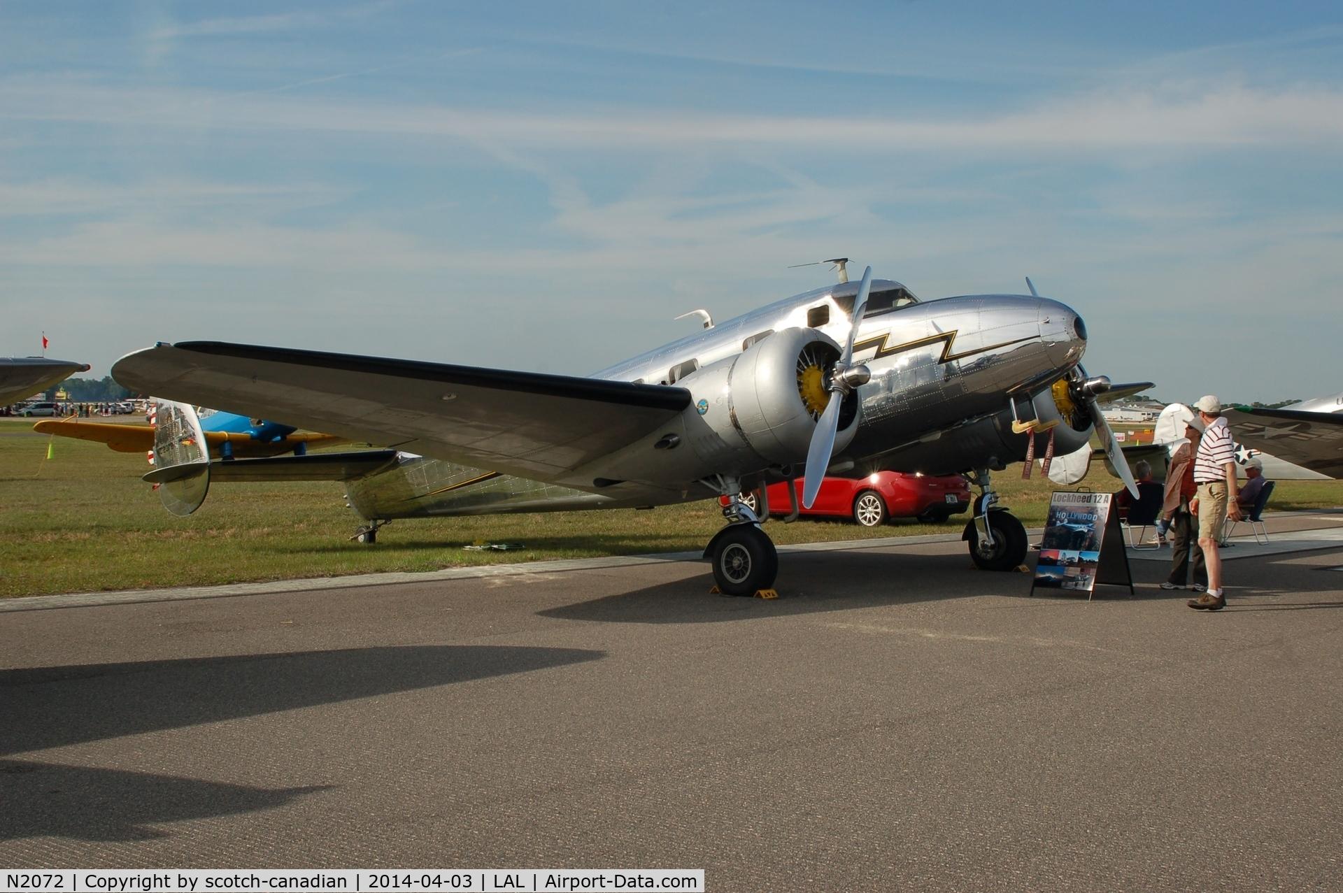 N2072, 1936 Lockheed 12A C/N 1208, 1936 Lockheed 12A, N2072, at 2014 Sun n Fun, Lakeland Linder Regional Airport, Lakeland, FL