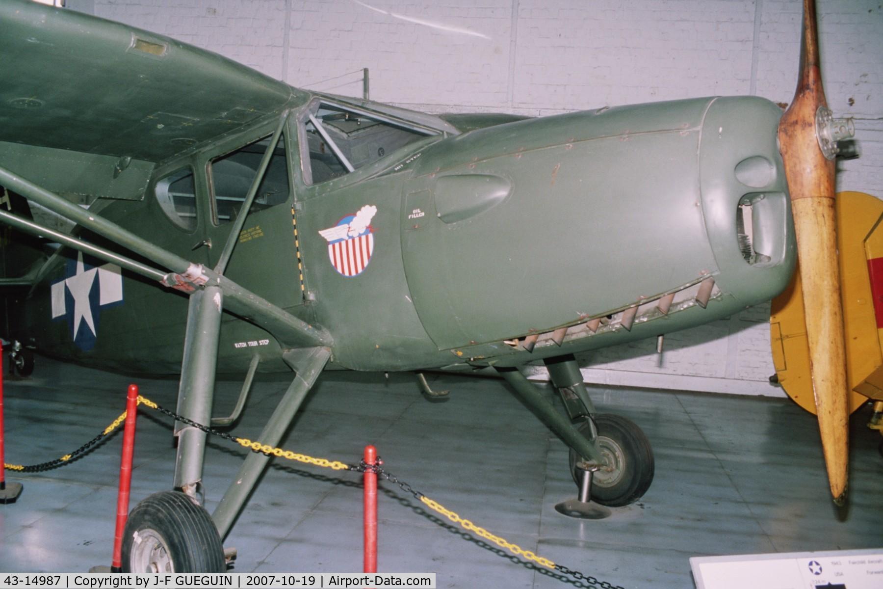 43-14987, Fairchild UC-61K Argus III (24R-46A) C/N 951, ex-OE-LUT preserved in belgian Musée Royal de l'Armée.