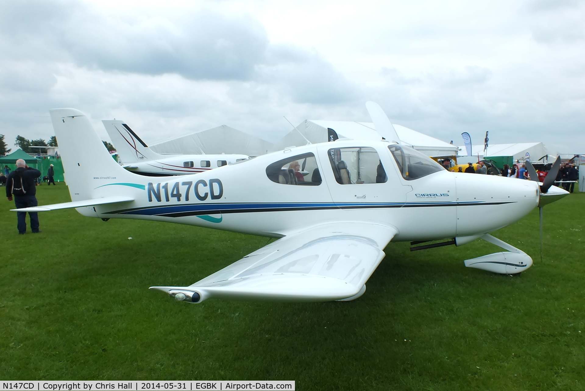 N147CD, 2000 Cirrus SR20 C/N 1043, at AeroExpo 2014