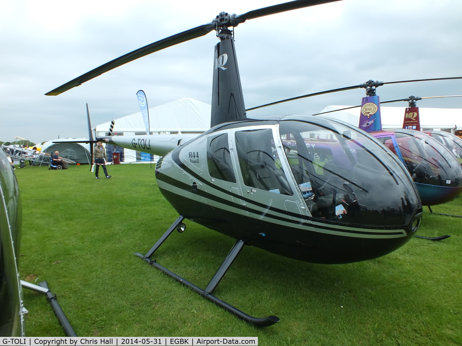 G-TOLI, 2007 Robinson R44 Raven II C/N 12009, at AeroExpo 2014