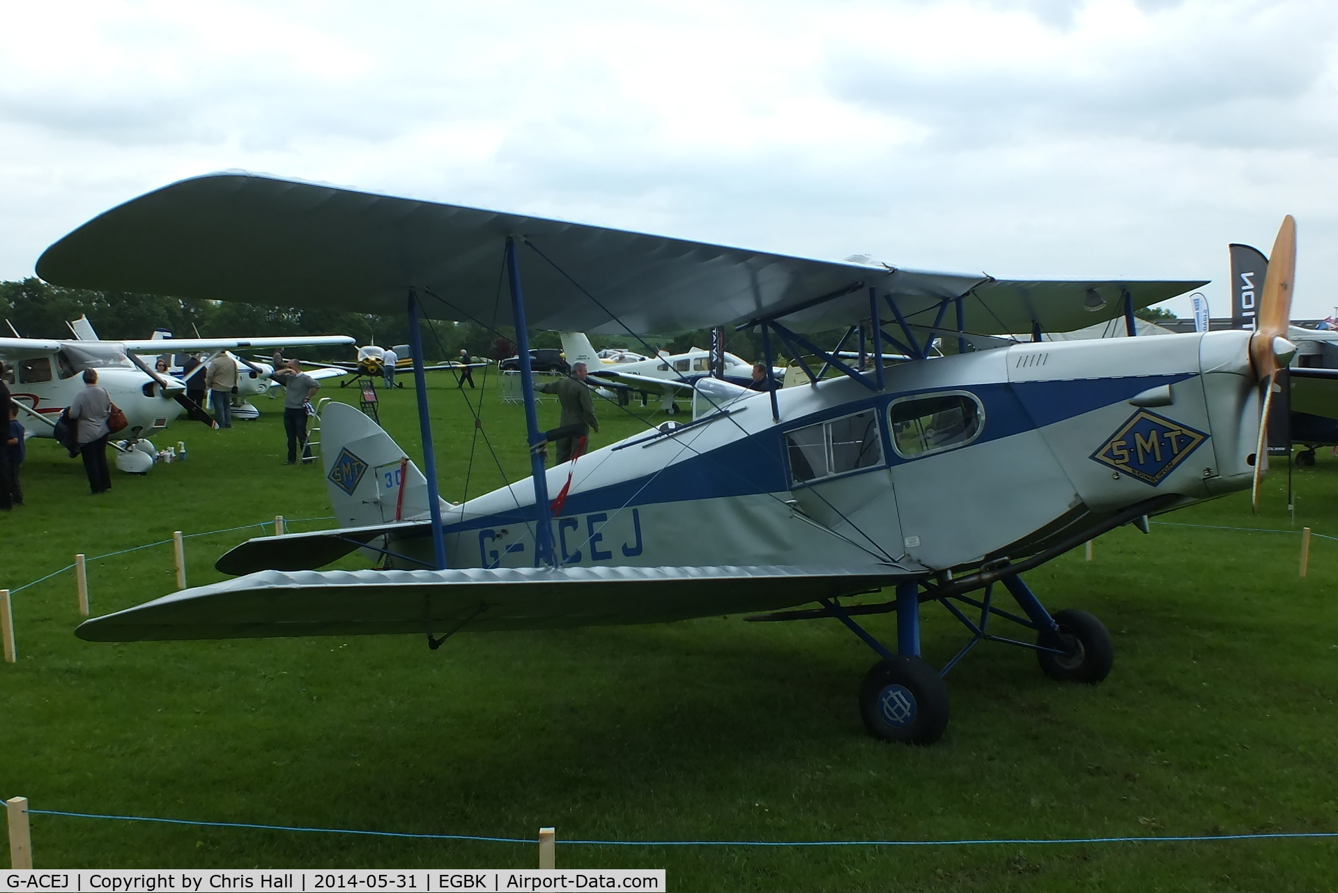 G-ACEJ, 1933 De Havilland DH.83 Fox Moth C/N 4069, at AeroExpo 2014