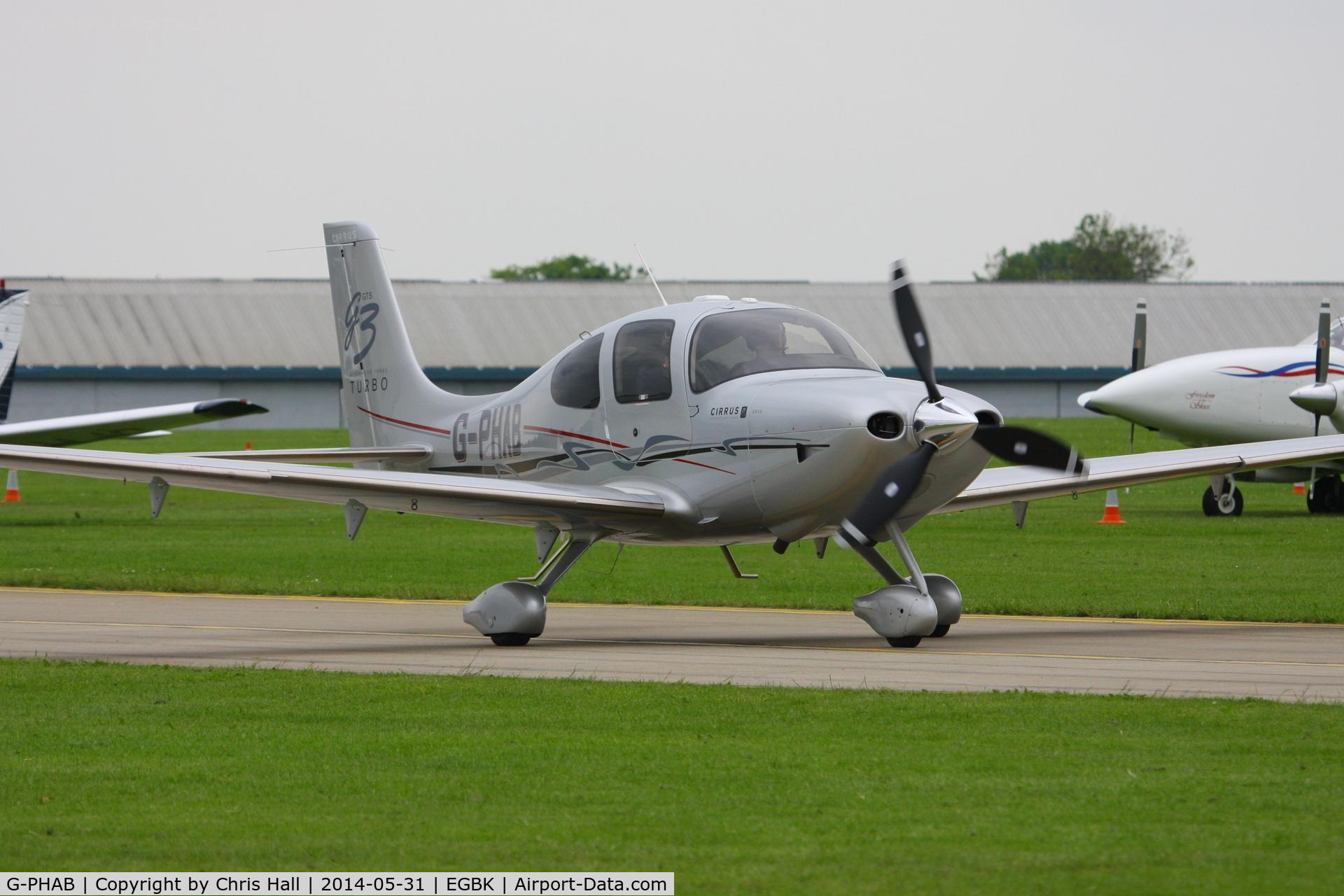 G-PHAB, 2007 Cirrus SR22 G3 Turbo C/N 2710, at AeroExpo 2014