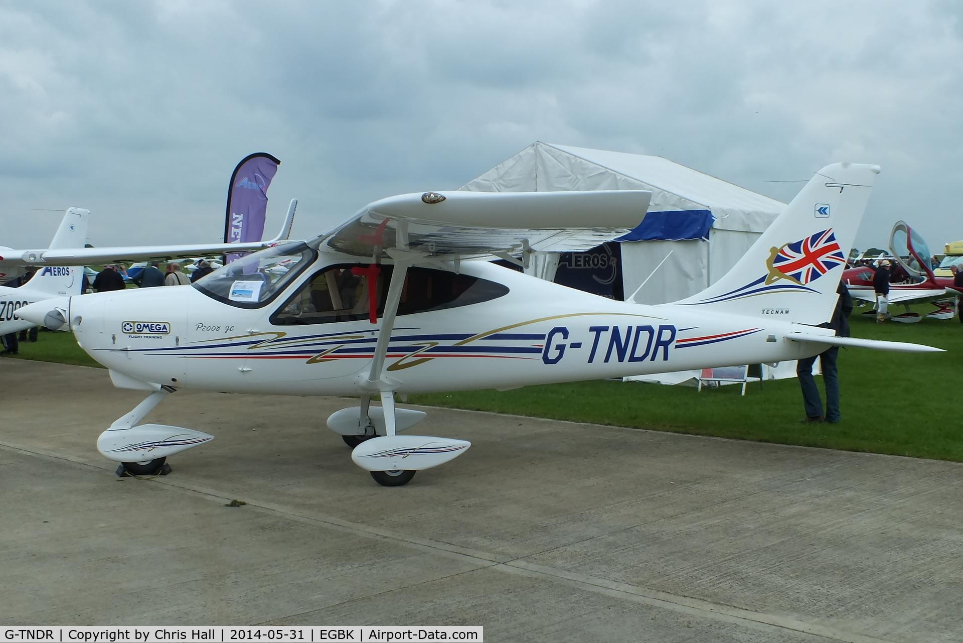 G-TNDR, 2014 Tecnam P-2008JC C/N 1035, at AeroExpo 2014