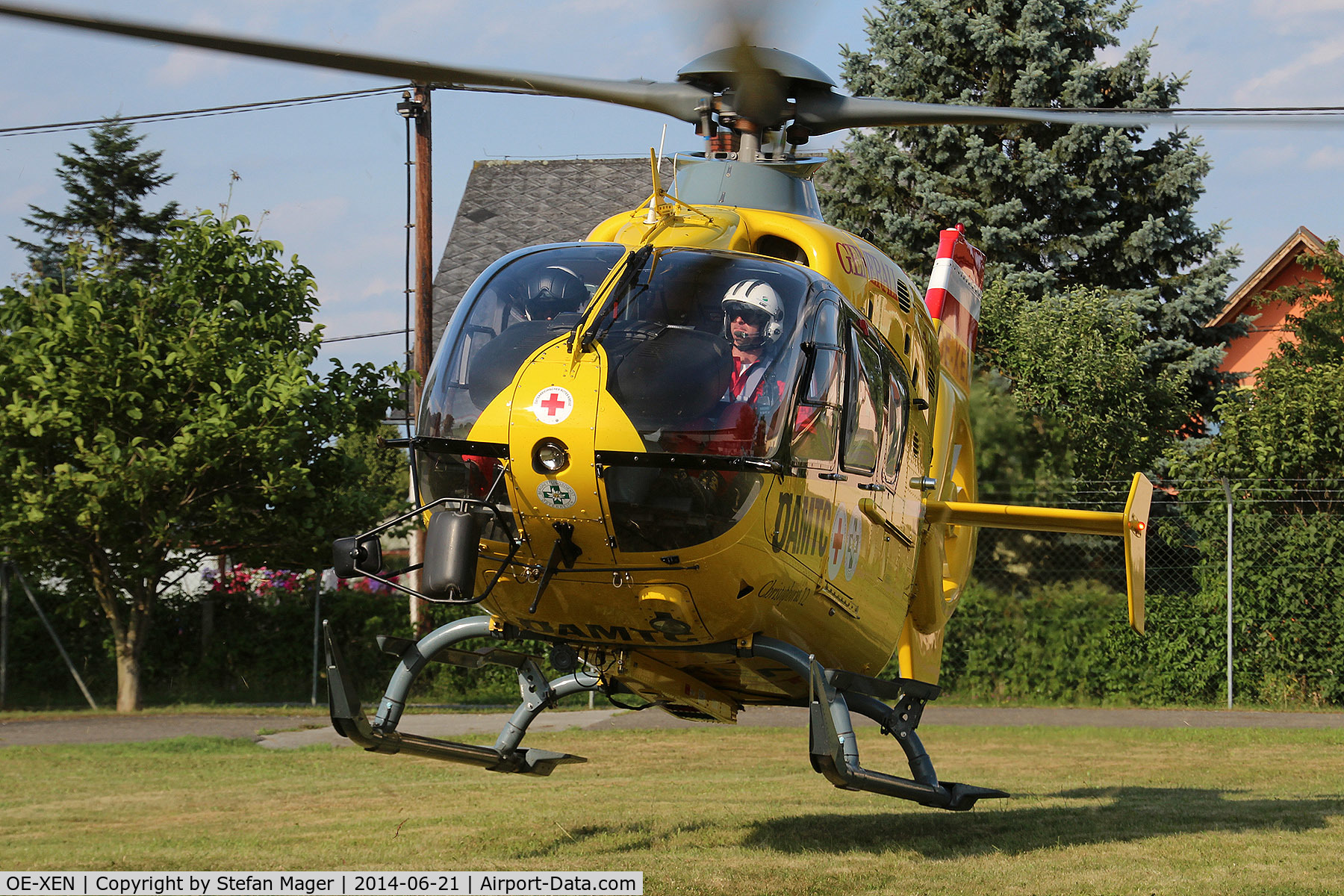 OE-XEN, Eurocopter EC-135T-2 C/N 0199, Taking off for rescue mission