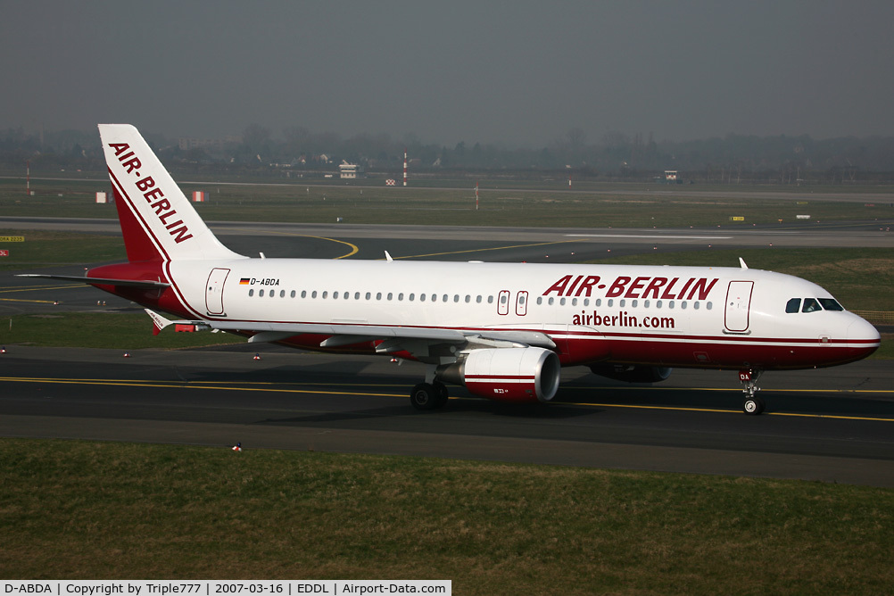 D-ABDA, 2005 Airbus A320-214 C/N 2539, Airbus 320 Air Berlin