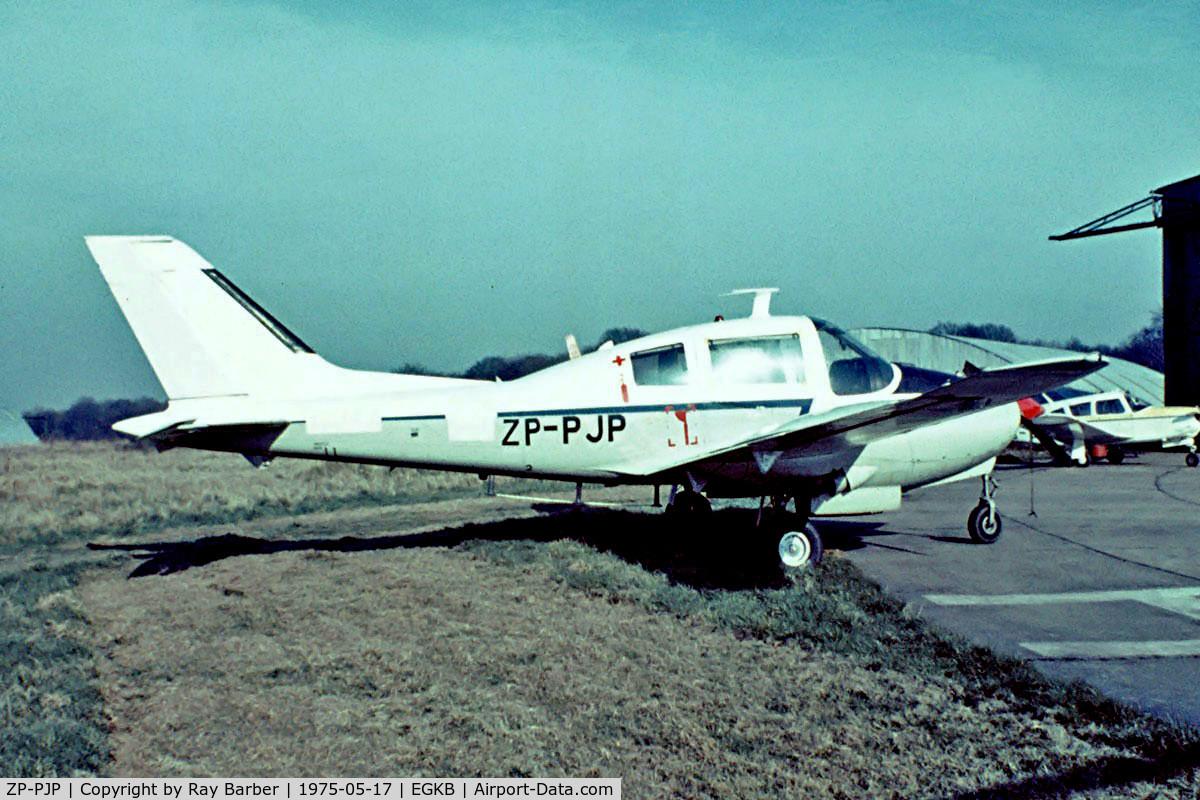 ZP-PJP, 1966 Beagle B-206R Basset CC.1 C/N R.10/B.020, Beagle B.206R Bassett CC.1 [B020] Biggin Hill~G 17/05/1975. From a slide.