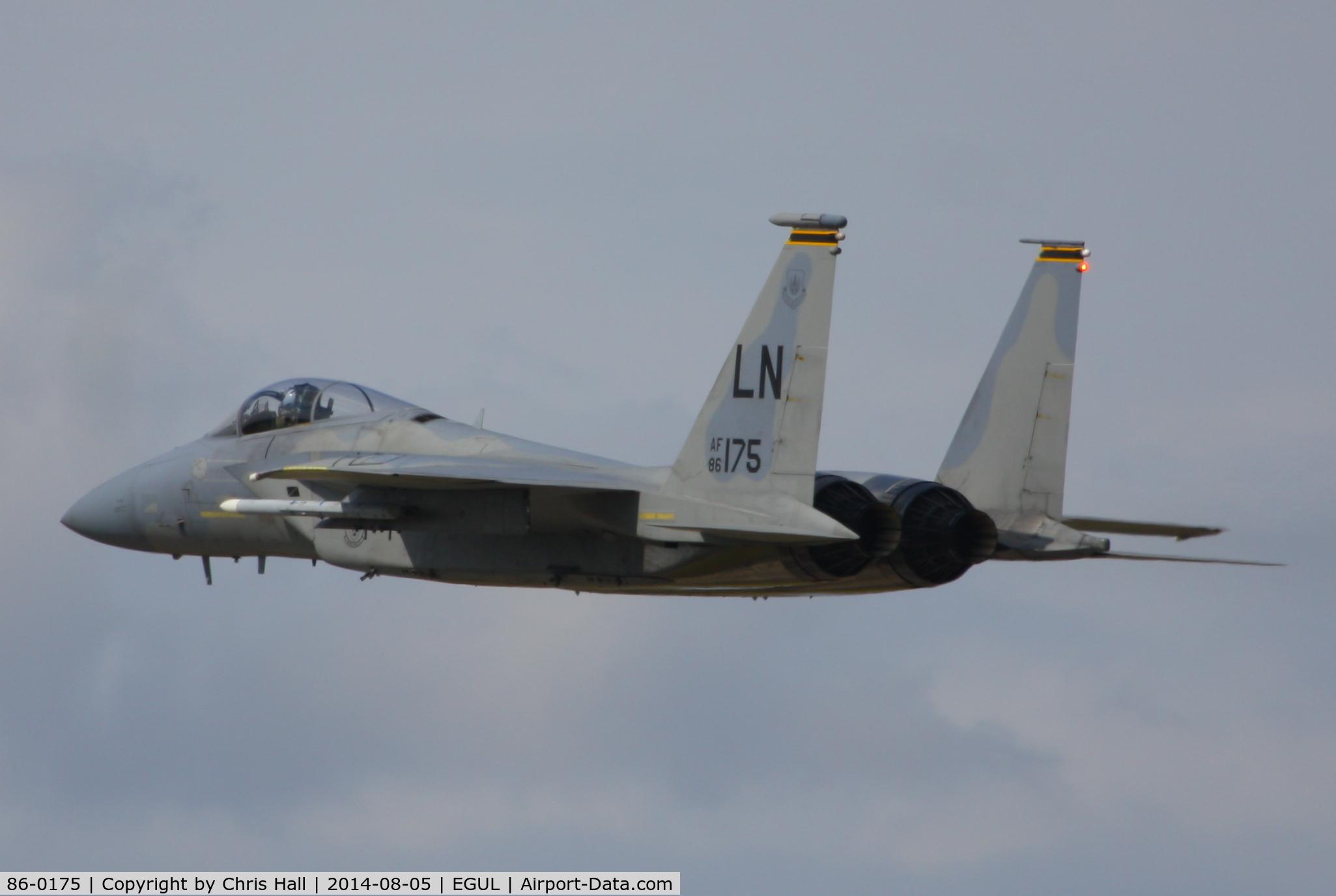 86-0175, 1986 McDonnell Douglas F-15C Eagle C/N 1025/C403, 493rd Fighter Squadron, 'Grim Reapers'