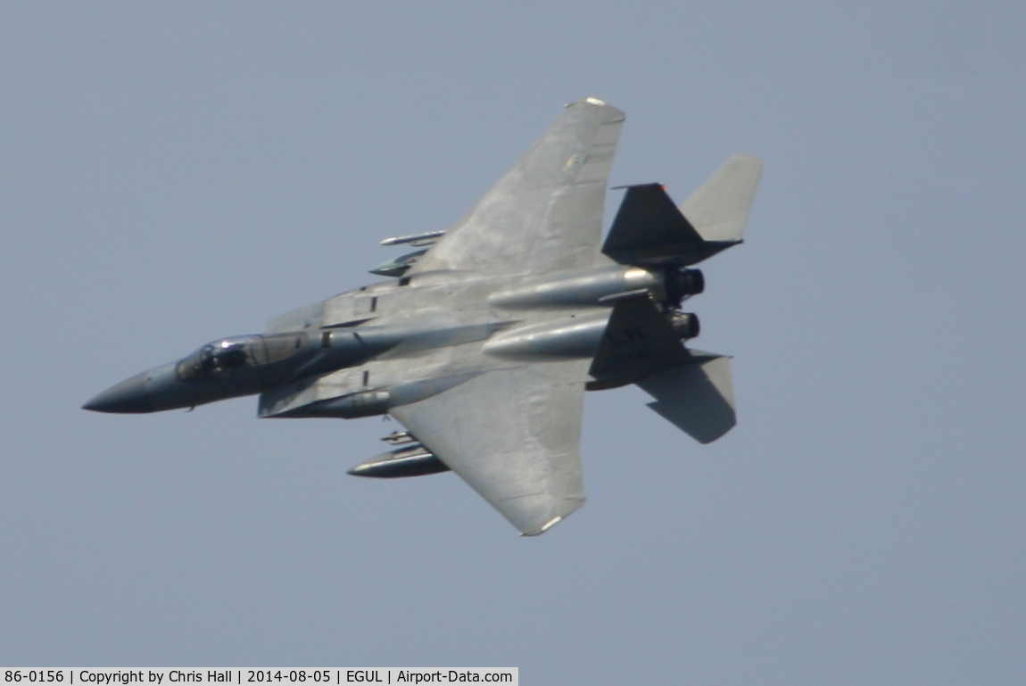 86-0156, 1986 McDonnell Douglas F-15C Eagle C/N 1003/C384, 493rd Fighter Squadron, 'Grim Reapers'