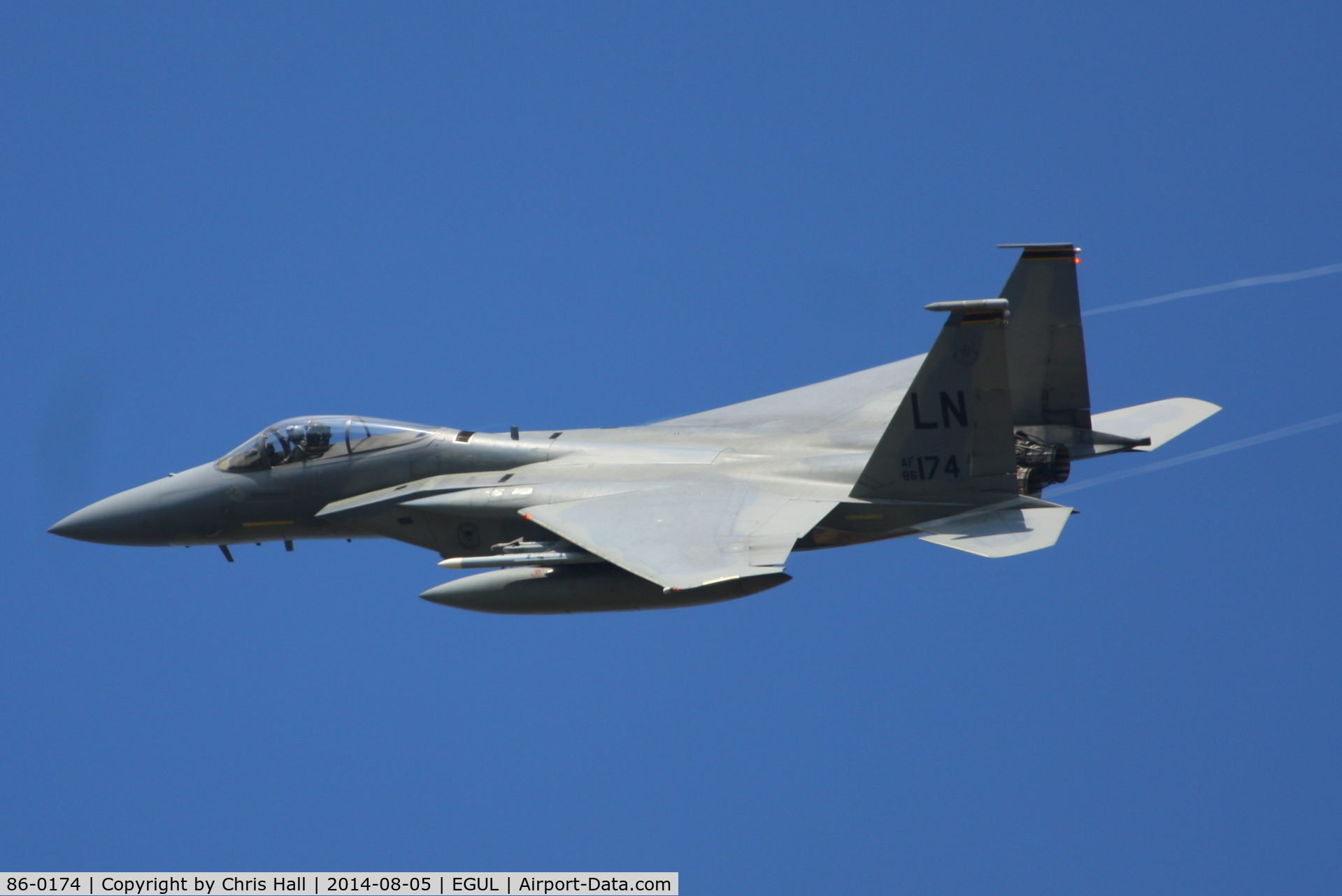 86-0174, 1986 McDonnell Douglas F-15C Eagle C/N 1024/C402, 493rd Fighter Squadron, 'Grim Reapers'