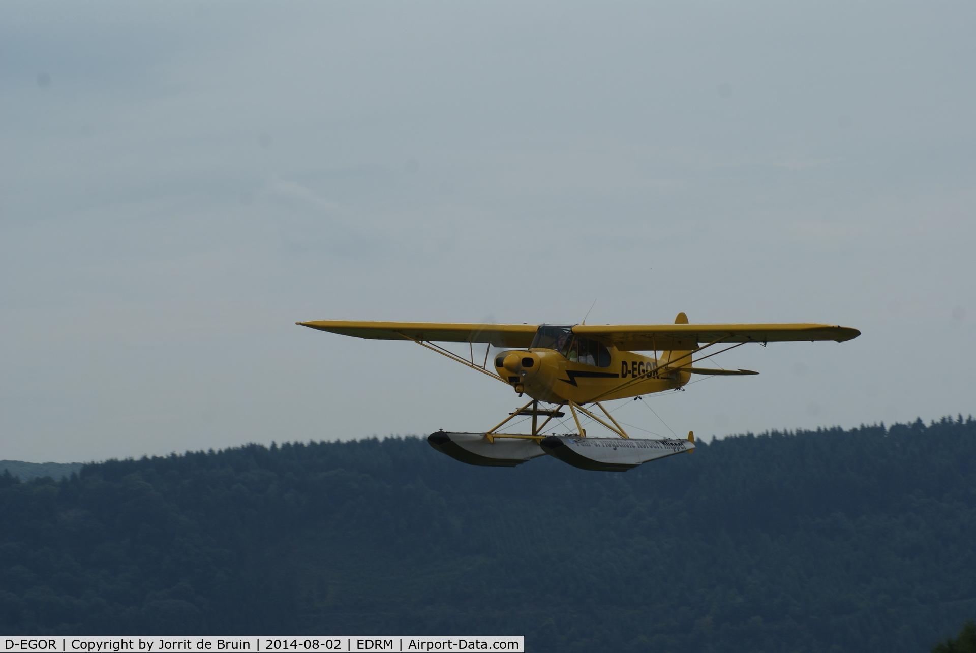 D-EGOR, Piper L-4H Grasshopper (J3C-65D) C/N 10668, Während des Flugplatzfest auf dem Mont-Royal Traben-Trarbach Flugplatz. - During the Flugplatzfest on the Mont-Royal Traben-Trarbach airport.