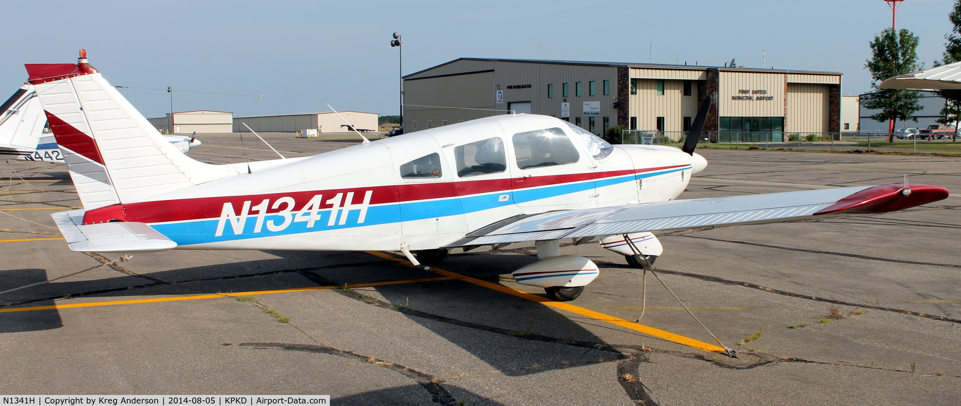 N1341H, Piper PA-28-181 Archer C/N 28-7790306, Piper PA-28-181 Archer on the ramp in Park Rapids, MN.