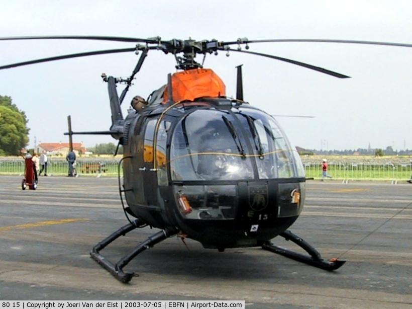 80 15, MBB Bo.105M C/N 5015, Koksijde Air Show 2003