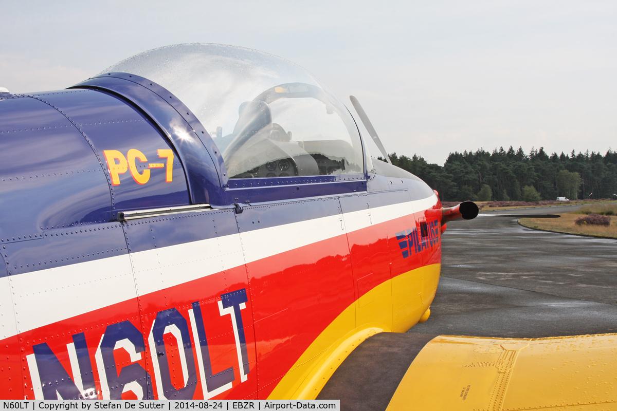 N60LT, 1999 Pilatus PC-7 C/N 615, Zoersel Fly-In 2014.