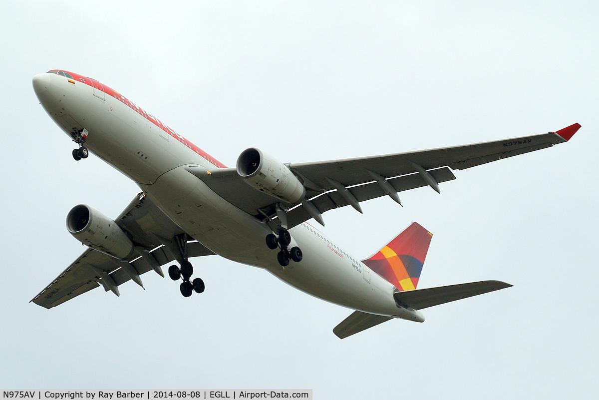 N975AV, 2011 Airbus A330-243 C/N 1224, Airbus A330-243 [1224] (Avianca) Home~G 08/08/2014. On approach 27R.