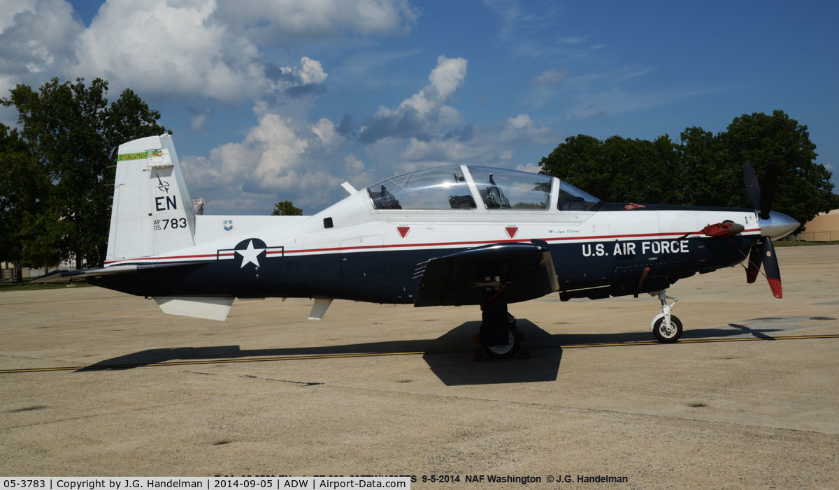 05-3783, Raytheon T-6A Texan II C/N PT-335, At Andrews AFB