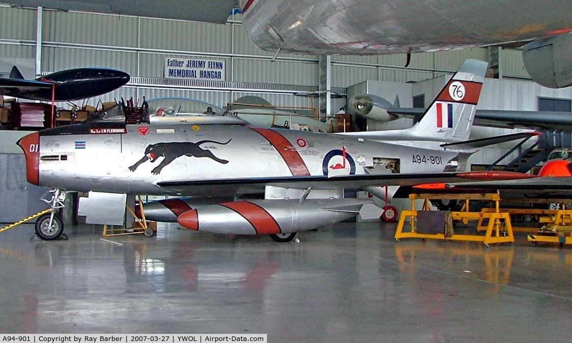 A94-901, 1954 Commonwealth CA-27 Sabre Mk.30 C/N CA27-1, Commonwealth Aircraft CA-27 Mk.30 Sabre [CA27-1] (Historic Aircraft Restoration Society) Albion Park / Illawarra / Wollongong~VH 27/03/2007